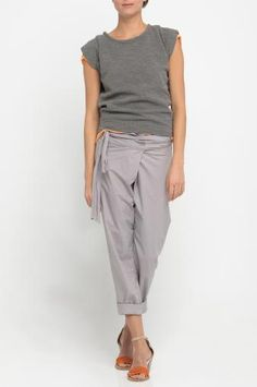 Trouser WILLS with pleating detail at front