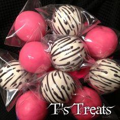 Hot Pink & Zebra Cake Pops