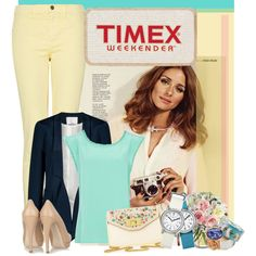 Easy Spring Style with Timex, created by rachel on Polyvore