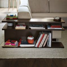BOOKSHELF SIDE TABLE, $199.00 -- This would work beautifully alongside my couch/ottoman.