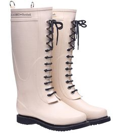 http://www.splendidavenue.com - Image of Ilse Jacobsen Rubber Boots - Tall, Beige $199