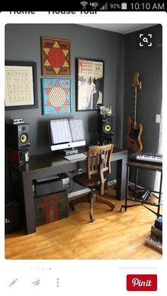 Notes with a bespoke music studio recording studio home, home studio music, Home Music Rooms, Music Studio Room, House Music, Home Studio Setup, Studio Art, Recording Studio Home, Audio Room, Game Room Design, House Design