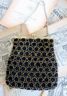 Vintage 1930's Rare Art Deco Black and Gold by SapodillaAndFern