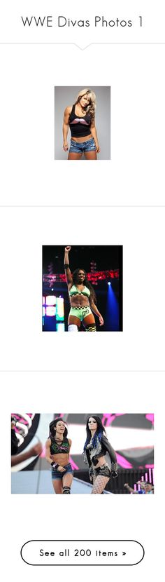 """""""WWE Divas Photos 1"""" by genericsarcasm ❤ liked on Polyvore featuring wwe, aj lee, divas, accessories, nikki bella, paige, the bella twins, people, nattie and beth and the authority"""