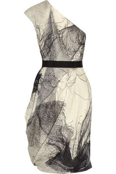 Love the printed silk organza.  Too bad I'm not in the market for a dress that costs more than my car.