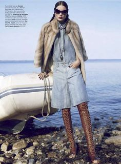 Fall Street Style Icelandic Countryside: Vogue Italia Marie Vatch Feature