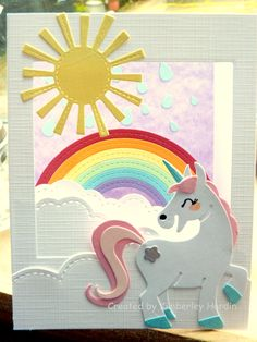 Gemaakt door mijn Dochter! #Shadowboxcard Paard #Mariannedesign #Elinepellinkhof #Lawnfawn