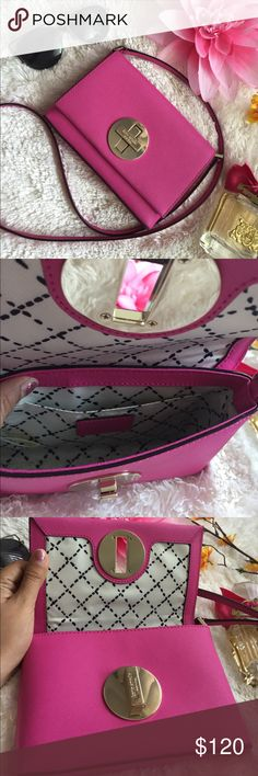 🌸OFFERS?🌸Kate Spade All Leather Pink Crossbody 🌷Authentic🌷Excellent shape. Minimal sign of use. All parts intact and functional. Features a twistlock opening and a pocket inside. Great for going out. Can be carried over the shoulder, crossbody or tuck the strap in to make it a clutch bag cute pair with dresses and skirts. Don't be shy to make an offer💕 kate spade Bags Crossbody Bags