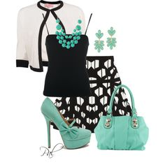 Black White and color, created by pamlcs on Polyvore