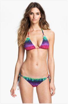Cosmo Deluxe bikini top and bottoms - multi-colored