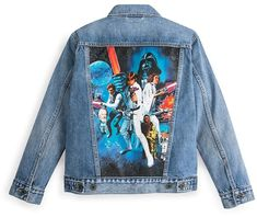 Disney Star Wars Poster Art Denim Trucker Jacket for Women by Levis