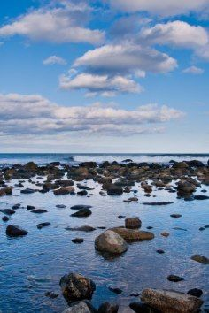 Rye Harbor State Park, scenic views of the Atlantic Ocean in New Hampshire.