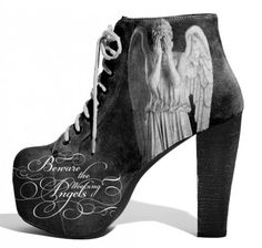 DOCTOR WHO Heels..weeping angels x Lonely Soles Tumblr | CulturSHOCK