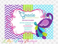 Peacock Invitation by LillysPartyBoutique on Etsy, $15.00
