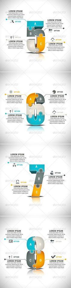 Business infographic : Business infographic : 4 Business Infographics Vector Template #design #present