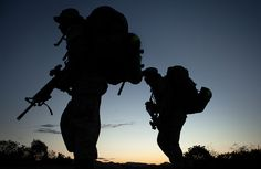Up in the morning with the early morning sun ... (U.S. Marine Corps photo by Sgt. Aaron Hostutler)
