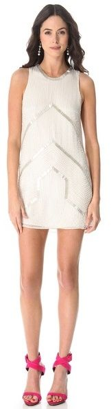 (Was $374.0) $112.2  Parker Architect Beaded Dress