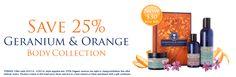 SAVE 25% Geranium & Orange Body Collection. LOVE this gift set. and none of the nasties! #NYROrganic us.nyrorganic.com/shop/debra