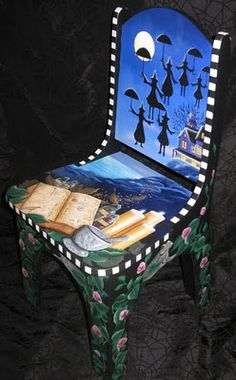 Magick Wicca Witch Witchcraft:  A Witch chair, by King of Mices Studios.
