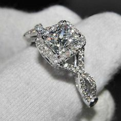 3 Ct Cushion Cut Diamond Engagement