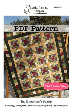 The Woodsmen's Puzzle Downloadable PDF Quilt Pattern Little Louise Designs - Fat Quarter Shop