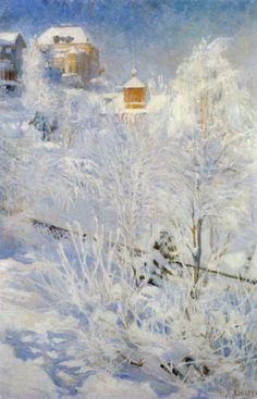 Talvikuva Kaivopuistosta (1895)