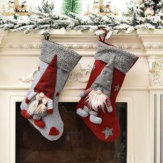 Christmas Stocking Kits, Christmas Gnome, Christmas Gift Box, Vintage Christmas Ornaments, Kids Christmas, Christmas Stockings, Christmas Decorations, Xmas, Holiday Decor