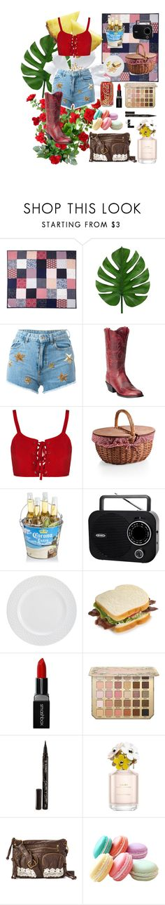"""""""Chicken Fried"""" by wedontneednoeducation ❤ liked on Polyvore featuring Picnic Time, Chiara Ferragni, Ariat, Smashbox, Smith & Cult, Marc Jacobs and T-shirt & Jeans"""