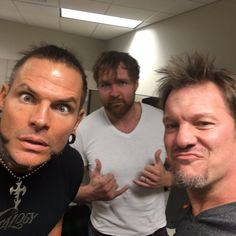 Dean Ambrose, Chris Jericho and Jeff Hardy