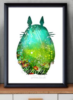Les enfants de mon voisin Totoro Studio Ghibli aquarelle Poster Print…