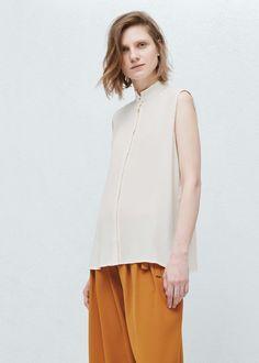 Blusa fluida botones - Camisas de Mujer | MANGO España