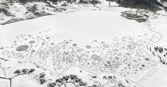 Artist Walks For Hours In Snowshoes To Create Sublime Snow Drawings