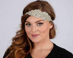 "Amazon.com : Pink Pewter Authentic ""Esmay"" Swarovski Crystal Headband Bridal Stretch Band Hair Jewelry    #pinkpewter @pinkpewter"