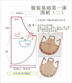 apron - Best Sewing Tips Sewing Hacks, Sewing Tutorials, Sewing Crafts, Sewing Projects, Sewing Patterns, Dress Patterns, Sewing Tips, Apron Patterns, Retro Apron