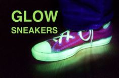Do you have a pair of Converse? Maybe. If you have a pair, do you love them? Of course you do. You know what would make them even cooler? If they glowed. Yup. Glowing. Sneakers. **Please use caution when using paint of any kind. Make sure to wear a mask as to not inhale any paint fumes. As always, be safe and have fun making!** Side Note: I've been a big fan of Instructables for a long time, thank you to everyone for the positive response that this project has received. It really means a…