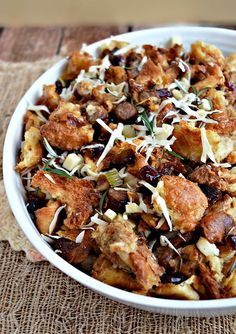 Croissant-Sausage Stuffing for Thanksgiving!