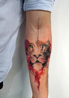 tatuajes de acuarela tigres
