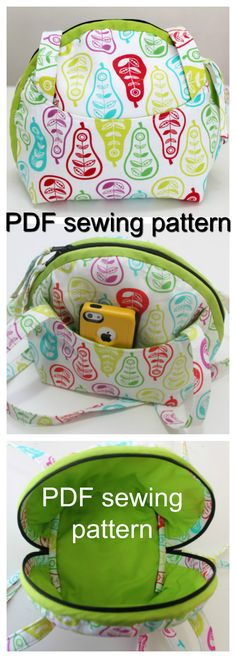 PDF downloadable PURSE SEWING PATTERN.  ||  Make it a little larger, and it could be a DIAPER BAG! ♥A