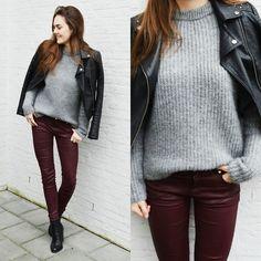 Zara Sweater, Mango Trousers, C&A Leather Jacket.