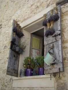 27 Antique Doors in the Interior French Doors Wall Decorating Ideas - fancydecors Garden Windows, Old Windows, Windows And Doors, Antique Doors, Old Doors, Lavender Cottage, Provence Lavender, Window View, Window Art
