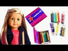 Haz lápices, lapiceros y lapiceras realistas para tu American Girl - Manualidades para muñecas - YouTube