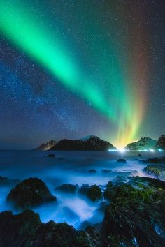 Aurora Night Sky in