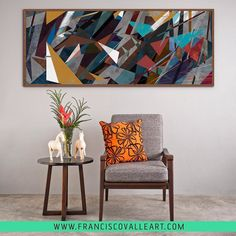 ". ""Silence and Chaos Panoramic"" no acervo da @urbanarts  . #franciscovalle #urbanarts #brasil #decor #decoração #interior #interiordesign #projeto #arte #art #arquitetura #homestyle #livingroom #casacor #bh #rj #poa #sp #sala #chair #america #chaos #geometry #abstract by franciscovalle_art"