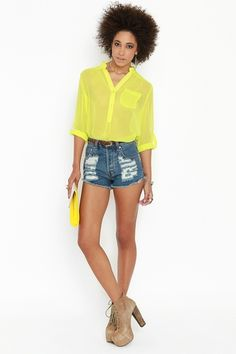Rock Candy Blouse - Lime