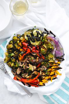 DeLallo.com Made Easy Recipes: Roasted Summer Vegetables with Balsamic Glaze