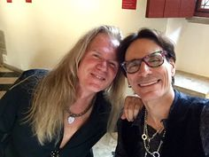 Steve Vai and Adrian Vandenberg during the   European Guitar Award on july 9…