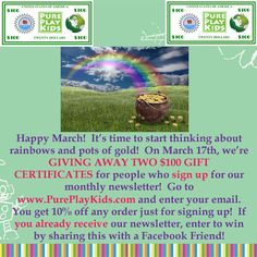 March Giveaway TWO - $100 Gift Certificates!!