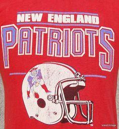 Vintage 80 s New England Patriots football t shirt. New England Patriots  FootballPatriots FansAll TeamReal WomenShirt IdeasBostonNflNfl Football 0dd4e8662