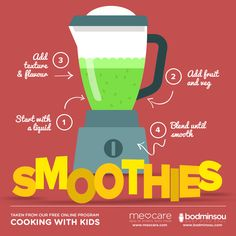 Healthy Smoothies For Kids Taken from our online Healthy Living Programs. Be a healthier you today!        Most kids are picky eaters. If its not the color, its the texture. Find a smoothie that they'll drink,