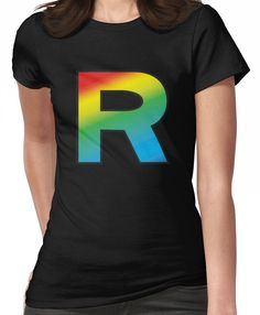 36e32beb Team Rainbow Rocket Women's T-Shirt Classic T Shirts, V Neck T Shirt